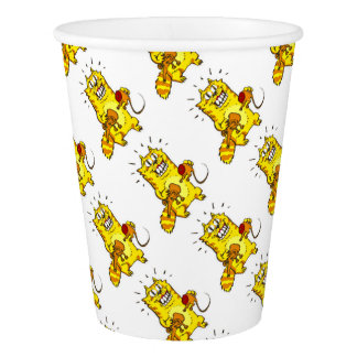 pyscho cat and unfortunate mouse funny cartoon paper cup
