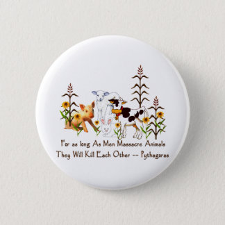 Pythagoras Vegetarian quote 6 Cm Round Badge