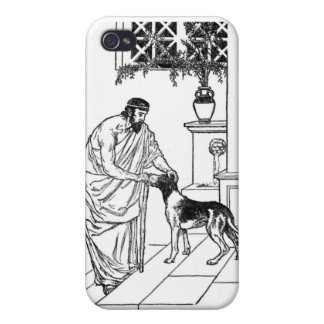 Pythagoras with Dog Case For iPhone 4