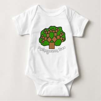 Pythagorean Tree Baby Bodysuit