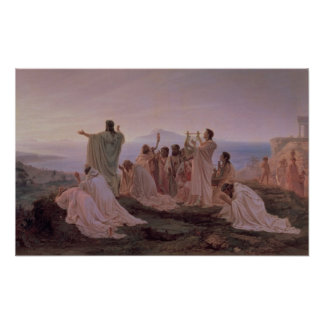 Pythagoreans' Hymn to the Rising Sun, 1869 Poster
