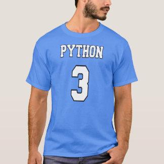 Python 3: White/Blue Design for Python Programmers T-Shirt
