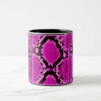 PYTHON HOT PINK SNAKE PRINT Two-Tone COFFEE MUG