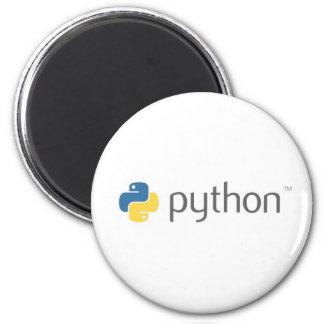 Python Programming Language 6 Cm Round Magnet