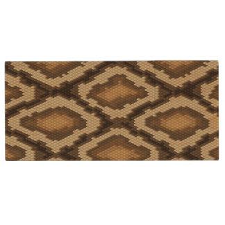 Python snake skin pattern 2 wood USB 2.0 flash drive