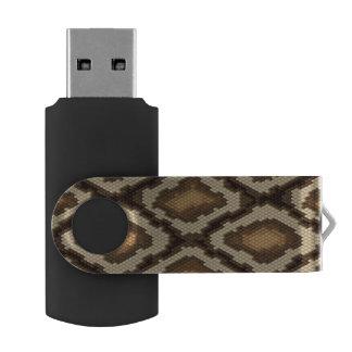 Python snake skin pattern 2 swivel USB 2.0 flash drive