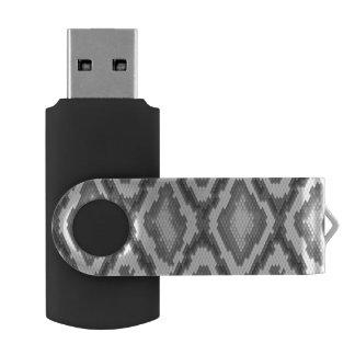 Python snake skin pattern swivel USB 2.0 flash drive