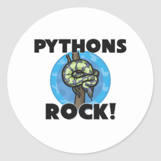 Pythons Rock Classic Round Sticker