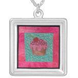 Q42 Cherry Cupcake Necklace