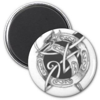 Q Celtic Dragon 6 Cm Round Magnet