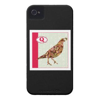 Q is for Quail iPhone 4 Case-Mate Case