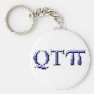 Q T Pi Basic Round Button Key Ring