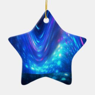 Qaanaaq - Northern Lights Ceramic Star Decoration