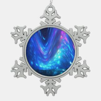 Qaanaaq - Northern Lights Pewter Snowflake Decoration