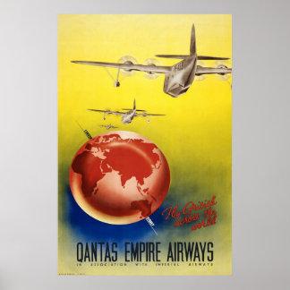 Qantas Empire Airways Poster