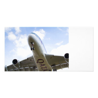 Qatar Airlines Airbus A380 Customized Photo Card