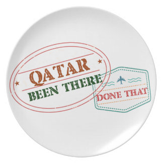 Qatar Been There Done That Plate