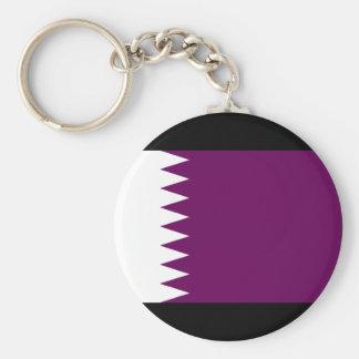 Qatar Flag Basic Round Button Key Ring