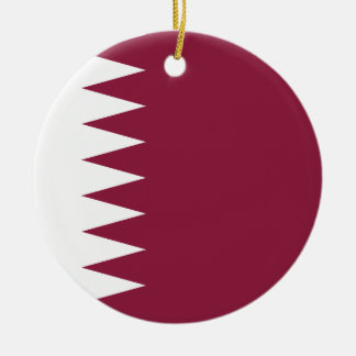 Qatar Flag Ceramic Ornament
