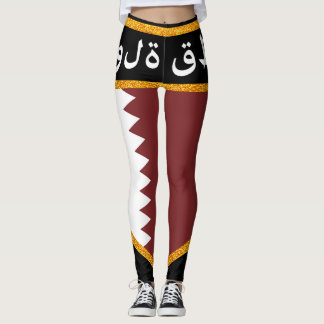 Qatar Flag Leggings