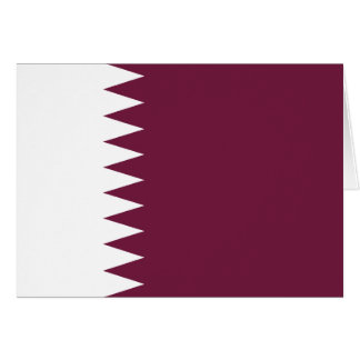 Qatar Flag Note Card