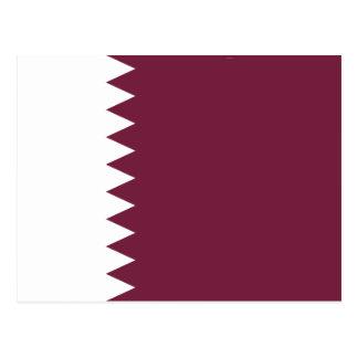 Qatar Flag Postcard