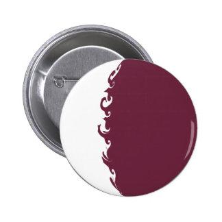 Qatar Gnarly Flag 6 Cm Round Badge