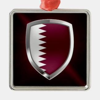 Qatar Metallic Emblem Metal Ornament