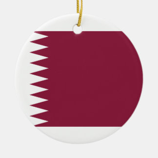 Qatar National World Flag Ceramic Ornament