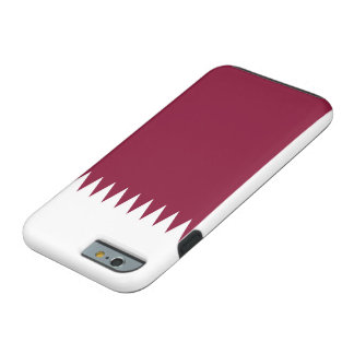 Qatar National World Flag Tough iPhone 6 Case