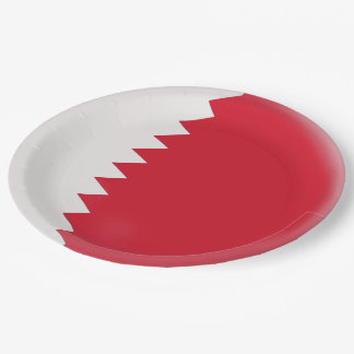 Qatar Red and white Flag Paper Plate