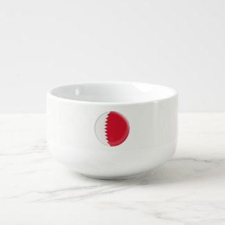 Qatar Red and white Flag Soup Mug