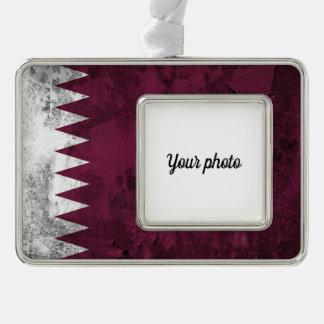 Qatar Silver Plated Framed Ornament
