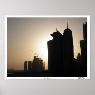 Qatar Sunset Poster