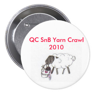 QCSnB Yarn Crawl 7.5 Cm Round Badge