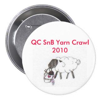 QCSnB Yarn Crawl 7.5 Cm Round Badge