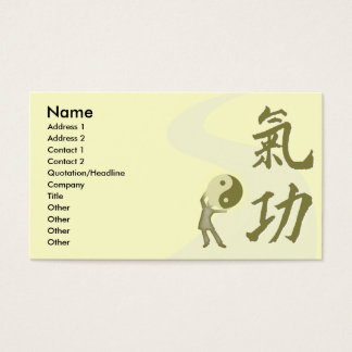 Qi Gong Business Card
