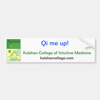 Qi me up! kulshan college sticker