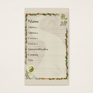QiGong Business Card