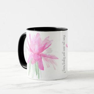 Qigong Pink Waterlily Mug
