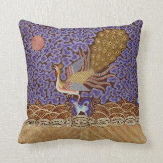 Qing Dynasty Rank Badge with Peacock Cushion