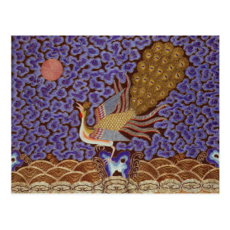 Qing Dynasty Rank Badge with Peacock Postcard