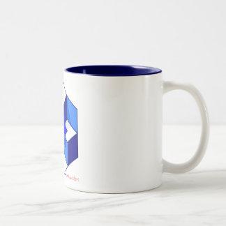 Qk! Optical illusion Two-Tone Coffee Mug