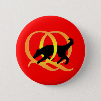 QQ Weaving Dog 6 Cm Round Badge
