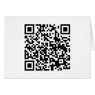 QR Barcode: Being scanned makes me happy.... Card