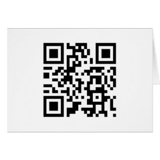 "QR Barcode ""Make someone smile today!"" Card"