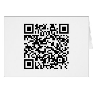 QR barcode: Thanks for scanning me... Card