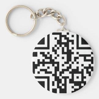 Qr BASIC Basic Round Button Key Ring