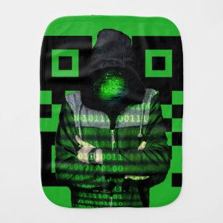 QR Binary Burp Cloth