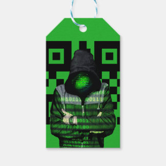 QR Binary Gift Tags